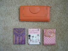 Chloe orange women's wallet, made in Italy, and 3 new notepads