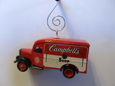 Custom  Vintage Cambells Soup 100Th Aniversary DeliveryTruck Christmas Ornament