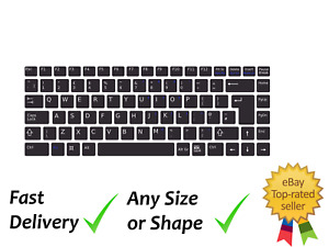"""Laptop Keyboard Edible Icing, Wafer or Wafer Card Cake Topper 9"""" x 3.5"""""""