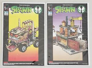 SPAWN VIOLATOR MONSTER RIG & SPAWN ALLEY 2 COMIC BOOKS TODD TOYS IMAGE COMICS