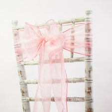 ORGANZA CHAIR SASH BOW  WEDDING CHAIR DECOR 83 COLOURS AVAILABLE