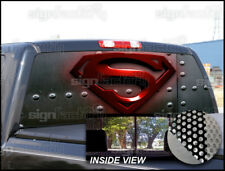 P107 Superman Rear Window Tint Graphic Decal Wrap Back Pickup Graphics