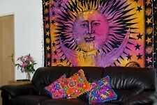 Large Celestial Multi tie dye Sun and Moon Wall Hanging Indian Wall Tapestry