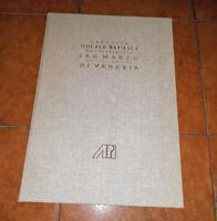 L'AUGUSTA DUCALE BASILICA DELL'EVANGELISTA SAN MARCO RISTAMPA 1761 1991 VENEZIA