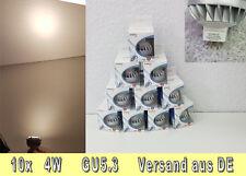 10x 4W LED-Spot 12V NEU MR16 GU5.3 Warmweiß Badbeleuchtung Langlebig, robust OVP