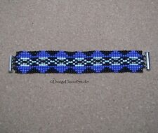 Peyote Bracelet - Handwoven Miyuki Beads - Art Deco