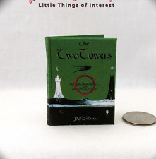 1:6 Scale Miniature Book THE TWO TOWERS Illustrated Play Scale Barbie Tolkien