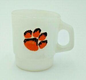 Clemson University Tiger Paw Cup / Mug, Fire King, Anchor Hocking, Esso (?)