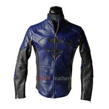 Superman Man of Steel Smallville Blue & Black Faux Leather Shield Jacket