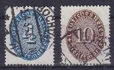 DR Dienst MI Nr. 130, 131, rund gest. Bochum etc., Dienstmarken Deutsches Reich