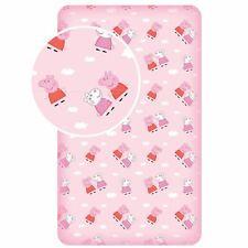 Peppa Pig Nuage Drap Simple 100% Coton Rose Enfants