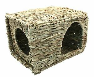 Happy Pet Natural Edible Sea Grass Hideaway for Rabbits Guinea Pigs Rats etc