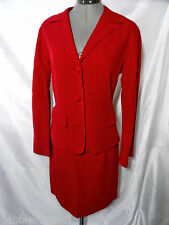 DKNY Suit Pencil Skirt Red sz 8 Button up (I have the matching jacket in sz 4)