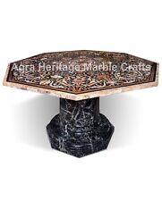 5'x5' Inlaid Big Table Top Octagonal Shape Exclusive Semi Precious Pietra Dura