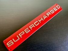 Red supercharged badge chrome edge fits Range Rover sport autobiography