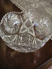 "Crystal Bowl - 8"" x 4"" - Very Good Condition but Sold in As/Is Condition"
