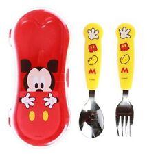 Disney Mickey Mouse Spoon Fork Cas Set Kids Cutlery Cute Design Utensils