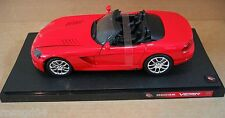 Hot Wheels Dodge Viper SRT-10 Red Convert Sport Car Die Cast 1:18 NEW Box Wears