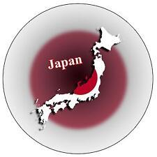 JAPAN MAP / FLAG - ROUND SOUVENIR FRIDGE MAGNET - NEW - GIFT