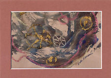 """DESIGN40"" by Ruth Freeman MIXED MEDIA 5"" X 7"" WITH MAT"