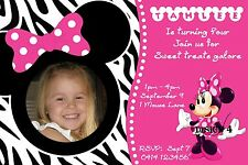 10 x Minnie Mouse Mickey Mouse Birthday Invites Invitations + FREEBIE