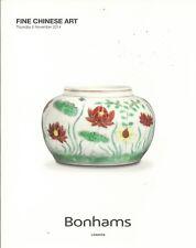 BONHAMS LONDON CHINESE Ceramics Jades Bronzes Furniture Rhinoceros Catalog 2014
