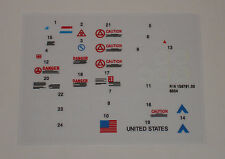 GI Joe MMS M.M.S. Mobile Missile System Sticker Decal Sheet
