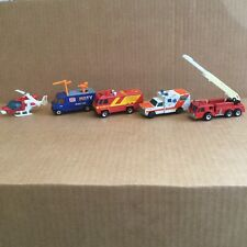 1977-89 Vintage Matchbox Emergency Vehicles: Fire/Paramedic/Sheriff/Airport/News