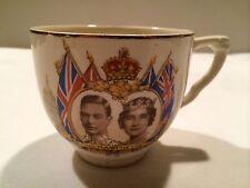 """Vintage J&G Meakin England """"Queen Elizabeth & King George"""" Commemoration Teacup"""