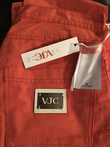 """Versace VJC Jeans / Trousers Ittierre Italy Orange/red 36"""" Waist 34"""" Leg Unisex"""