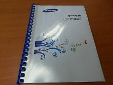 SAMSUNG GALAXY TAB 10.1 GT-P7510 PRINTED INSTRUCTION MANUAL GUIDE 131 PAGES A5