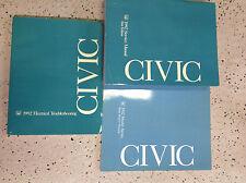 1992 HONDA CIVIC Service Shop Repair Manual Set W Body & Wiring Diagram Manual