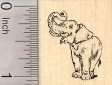 Asian Elephant Rubber Stamp, Endangered Wildlife, India, Sumatra, Asia D25131 WM