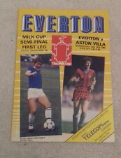 557) Everton v Aston Villa  programme milk cup semi final 15-2-1984