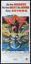 SPY WHO LOVED ME Original Daybill Movie poster AUTOGRAPHED BY Caroline Munro 81r