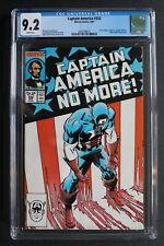 CAPTAIN AMERICA #332 Cap RESIGNS 1987 Patriot U.S. Agent TV Zeck FLAG CGC 9.2