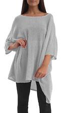 Italian Batwing Lagenlook Clothing Plus Size Dresses oversized mesh net top I74