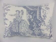 Shabby Chic Blue French Toile Pillow Feather Cushion