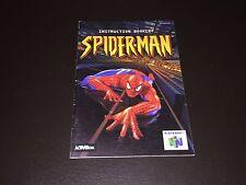 Spiderman Instruction Manual Booklet Nintendo 64 N64