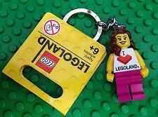 Lego GIRLS LEGOLAND Minifigure Key Chain Keychain Xmas Gift city town novelty!!