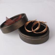 Women Vintage Celtic Hoop Earrings Yellow Gold Filled Friendship Jewellery 40mm