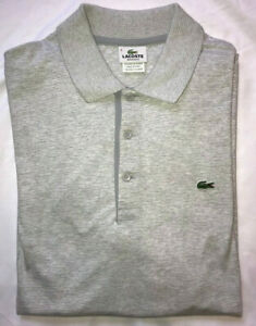 LACOSTE REGULAR FIT POLO, Striped Light Gray (DH9307 51 MTG):  $49.99