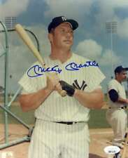 Mickey Mantle JSA Loa Hand Signed 8x10 Yankees Photo Autograph