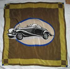 Magnifique Foulard  MERCEDES BENZ  100% soie  90cm x 90cm TBEG  vintage Scarf