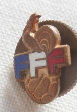 Rare insigne FFF FÉDÉRATION FRANÇAISE DE FOOTBALL Coq émail ORIGINAL France