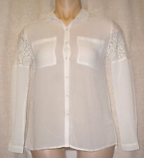 Nylon Collared Long Sleeve Floral Tops & Shirts for Women