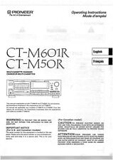 Bedienungsanleitung-Operating Instructions pour Pioneer CT-M601R, CT-M50R
