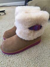Children's Shoes UGG Australia Kids Ellee Suede Boots Sz 4 Youth Chestnut New