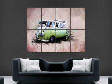 VW Camper POSTER Van Volkswagen Classic Vintage GIGANTE stampa l'immagine di grandi dimensioni