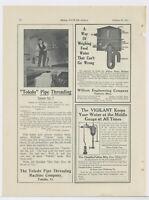 1911 Toledo Pipe Threading Machine Co. Ad: at Eureka Silk Mfg. Putnam CT